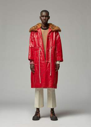 Marni Shearling Collar Drawstring Coat