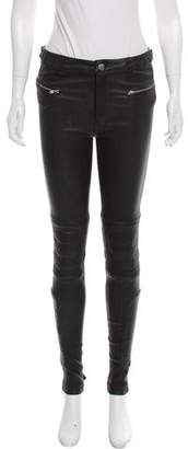 BLK DNM Mid-Rise Leather Pants