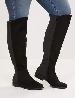 Lane Bryant Over-The-Knee Faux-Suede Flat Boot - Extra Wide Calf