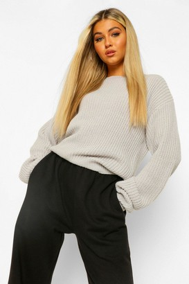 boohoo Tall Crew Neck Crop Jumper