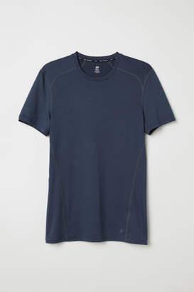 H&M Short-sleeved Sports Shirt - Blue