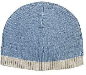 Barneys New York Kids' Stockinette-Stitched Hat - Blue