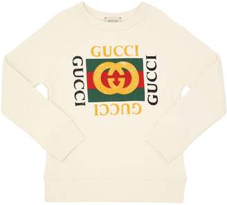 Gucci Logo Printed Cotton Sweatshirt