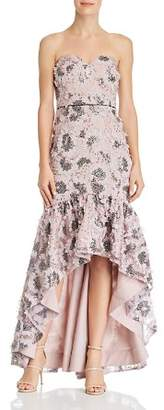Aidan Mattox Strapless Sweetheart Embellished High/Low Dress