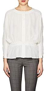 Frame Women's Kimono-Sleeve Draped Silk Blouse-Ivorybone