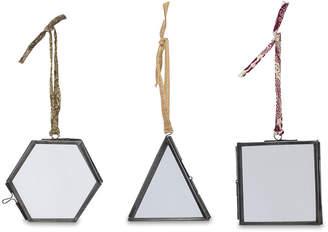 Nkuku Tiny Kiko Tree Decoration - Set of 3 - Antique Zinc