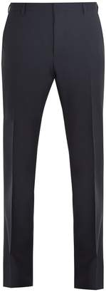 Prada Mid-rise straight-leg wool-blend trousers