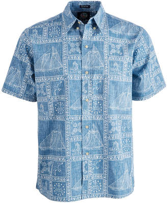 Reyn Spooner Men Newport Sailor Printed Shirt