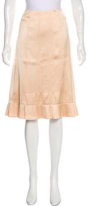 Dries Van Noten Satin Flared Skirt