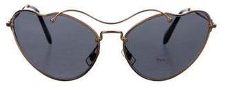 Miu Miu Metal Cat-Eye Sunglasses