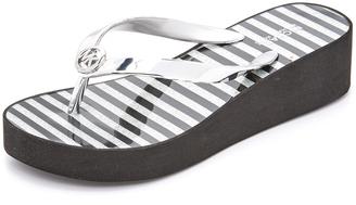 MICHAEL Michael Kors Bedford Wedge Flip Flops $59 thestylecure.com