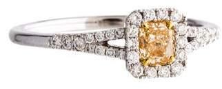 18K Diamond Split Shank Engagement Ring