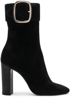 Saint Laurent Suede Joplin Buckle Boots