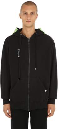 Facetasm Jersey Sweatshirt Hoodie W/ Knit Insert