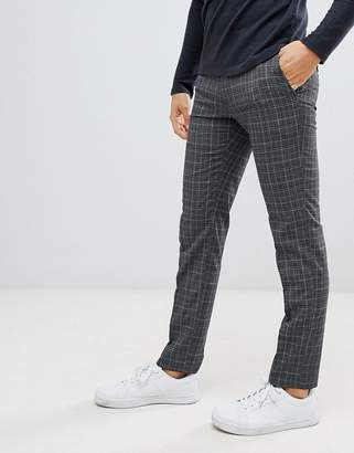 Moss Bros skinny fit pants in bold princes of wales check