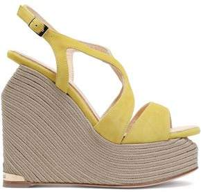 Paloma Barceló Suede Wedge Espadrille Sandals