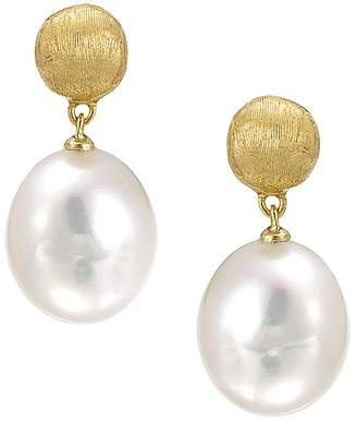 """Marco Bicego Africa Pearl Collection"""" 18K Yellow Gold and Pearl Drop Earrings"""