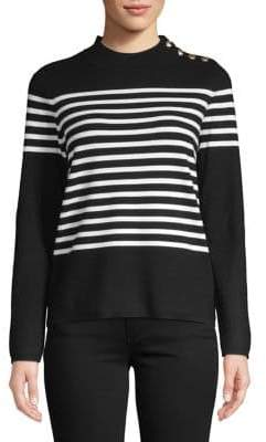 Karl Lagerfeld Paris Striped Rugby Sweater