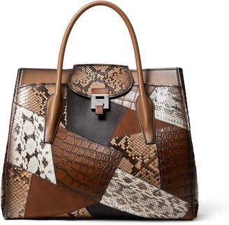 Michael Kors Bancroft Patchwork Weekender Satchel Bag
