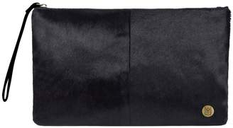 MAHI Leather - Classic Clutch Bag In Black Pony Fur