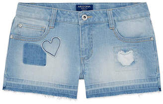 Arizona Denim Release Hem Patch Shortie Shorts Girls 4-16 and Plus