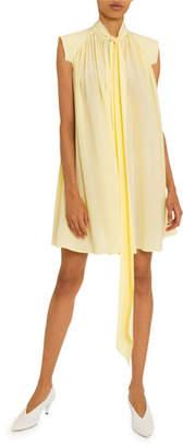 Givenchy Tie-Neck Quilt-Shoulder Dress