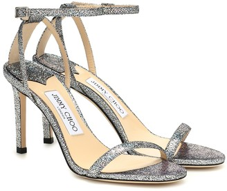 Jimmy Choo Minny 85 metallic leather sandals
