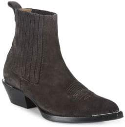 Ash Texas Leather Ankle Boots