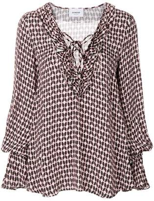 Dondup printed flared blouse