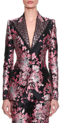 Dolce & Gabbana Two-Button Rose-Jacquard Jacket