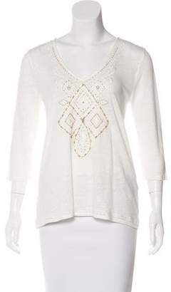 Calypso Embellished Long Sleeve Top