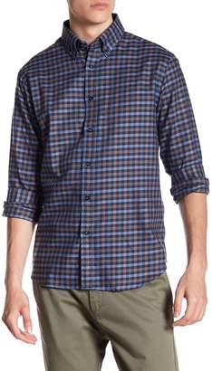 James Tattersall Plaid Print Classic Fit Woven Shirt