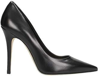 The Seller Pointed Toe Black Leather Pumps