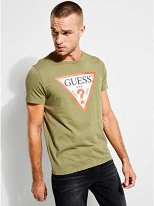 GUESS Men's Short Sleeve Triangle Logo T-Shirt