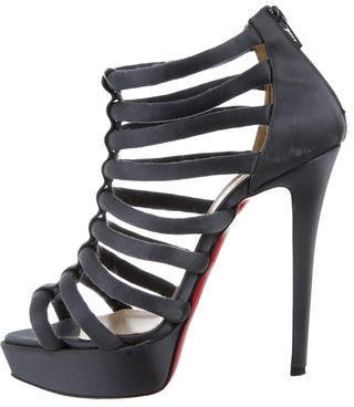 Christian Louboutin  Christian Louboutin Satin Caged Sandals