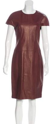 Jason Wu Leather Knee-Length Dress