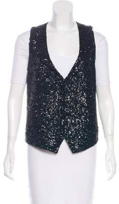 Zadig & Voltaire Embellished Asymmetrical Vest w/ Tags