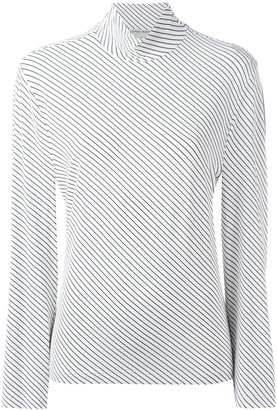 roll neck striped top