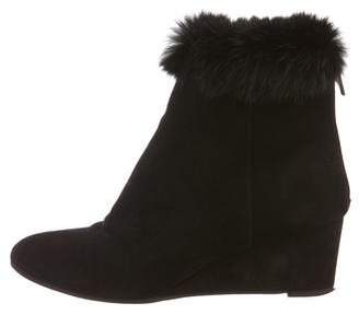 Aquatalia Suede Wedge Booties