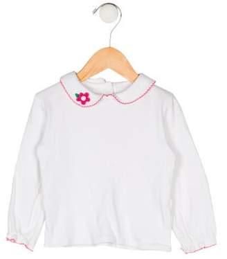 Florence Eiseman Girls' Collar Long Sleeve Top