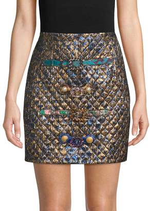 Dolce & Gabbana Women's Jacquard & Quilted Mini Skirt
