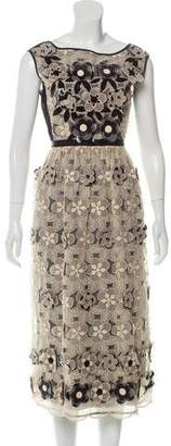 Antonio Marras Sleeveless Embellished Midi Dress w/ Tags