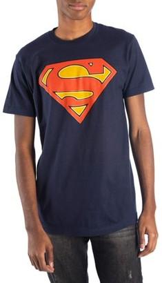 Movies & TV Men's Navy DC Comics Glow-In-The-Dark Superman Logo Short Sleeve T-shirt