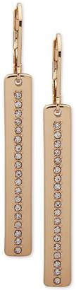 Nine West Crystal Thin Line Linear Drop Earrings