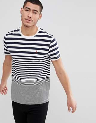 Jack Wills Sawmills Stripe T-Shirt in Navy