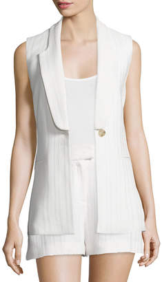 Veronica Beard Lucia Long & Lean Vest