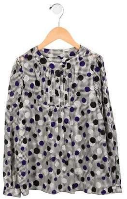 Milly Minis Girls' Polka Dot Long Sleeve Top