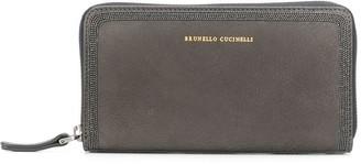 Brunello Cucinelli bead trim wallet