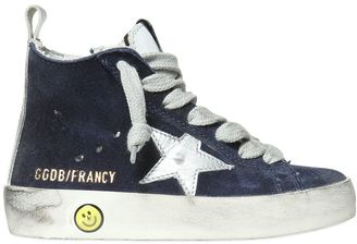 Francy Suede High Top Sneakers $331 thestylecure.com