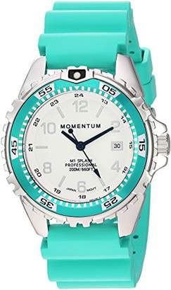 Momentum Women's Quartz Watch | M1 Splash by Momentum| Stainless Steel Watches for Women | Dive Watch with Japanese Movement & Analog Display | Water Resistant ladies watch with Date – Lume / Rubber